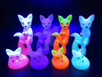 Playful Kitsunes