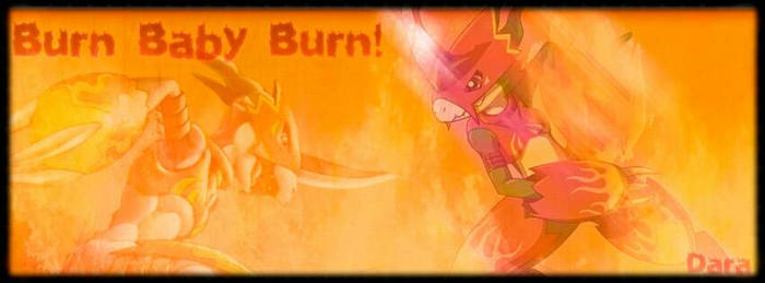 Flamedramon - Facebook cover with borders