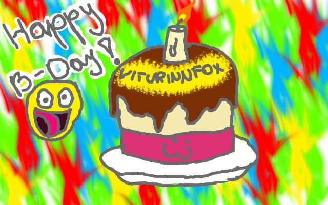 Happy B-day, ViturinnFox by TigaLioness
