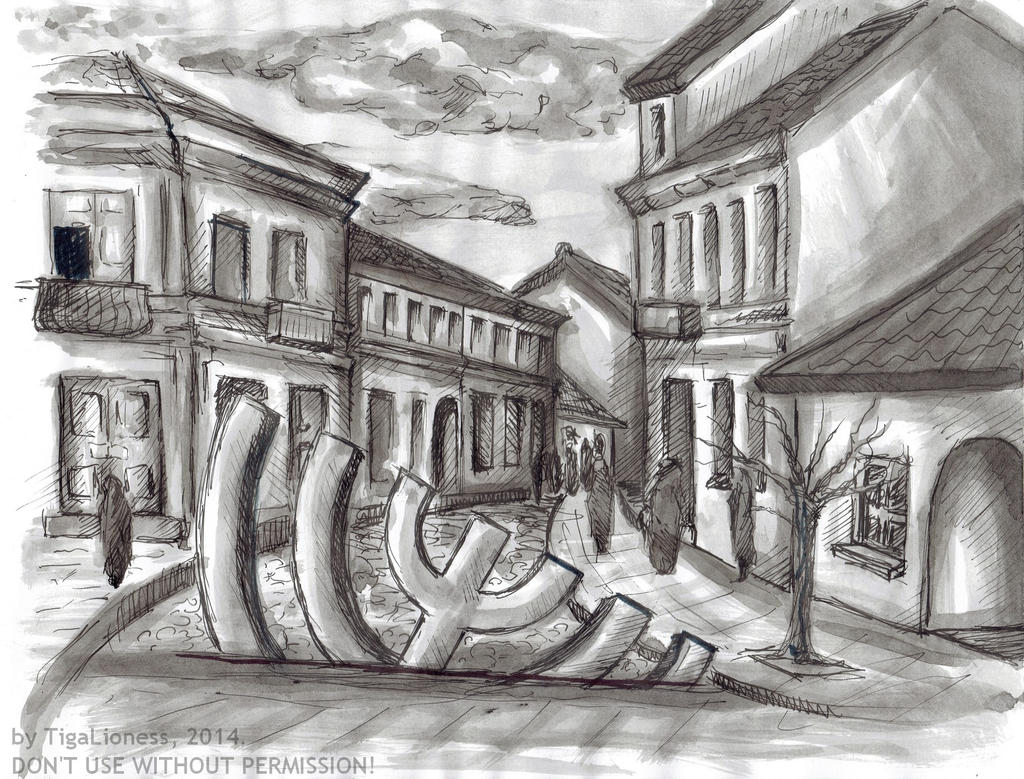 Jewish city by TigaLioness