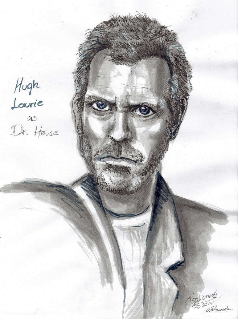 Hugh Laurie as House by TigaLioness