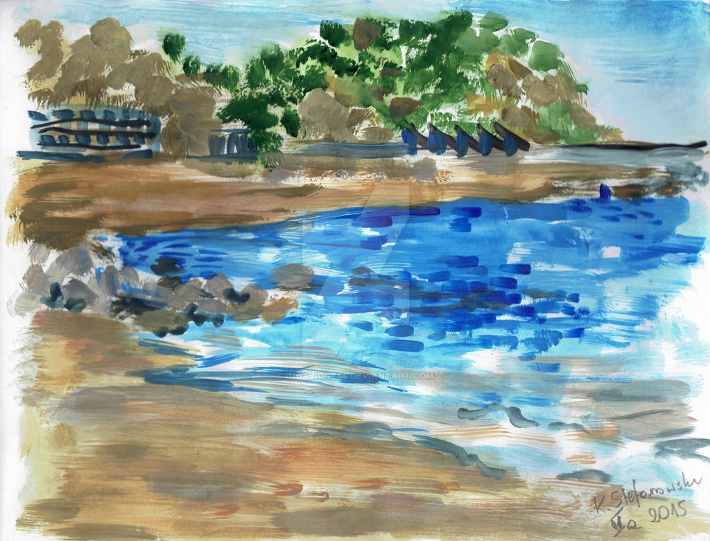Blanes seashore by TigaLioness