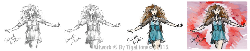 Scarlet Witch doodles by TigaLioness