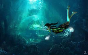 Underwater for Lara by ZayrCroft