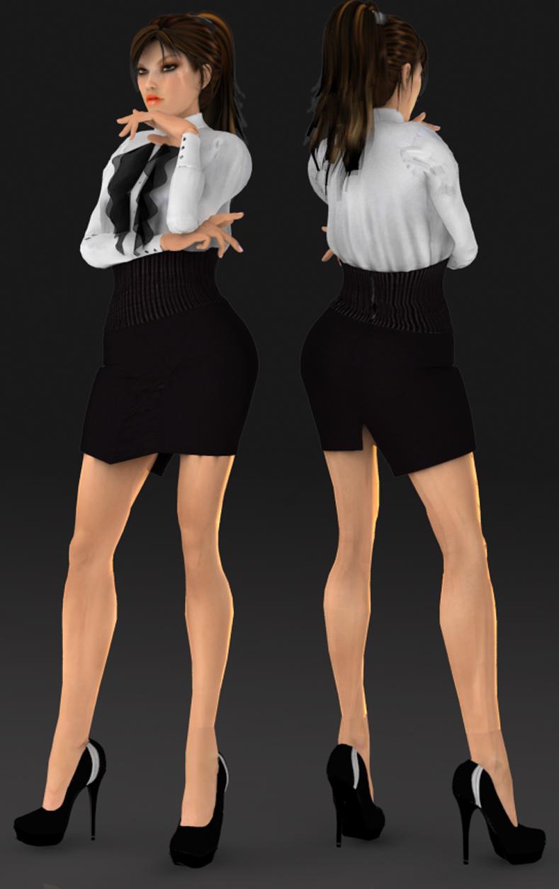 Fashion Dress DL by ZayrCroft