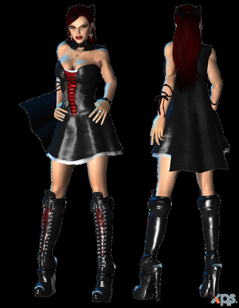 Lara Halloween Dress WIP by ZayrCroft