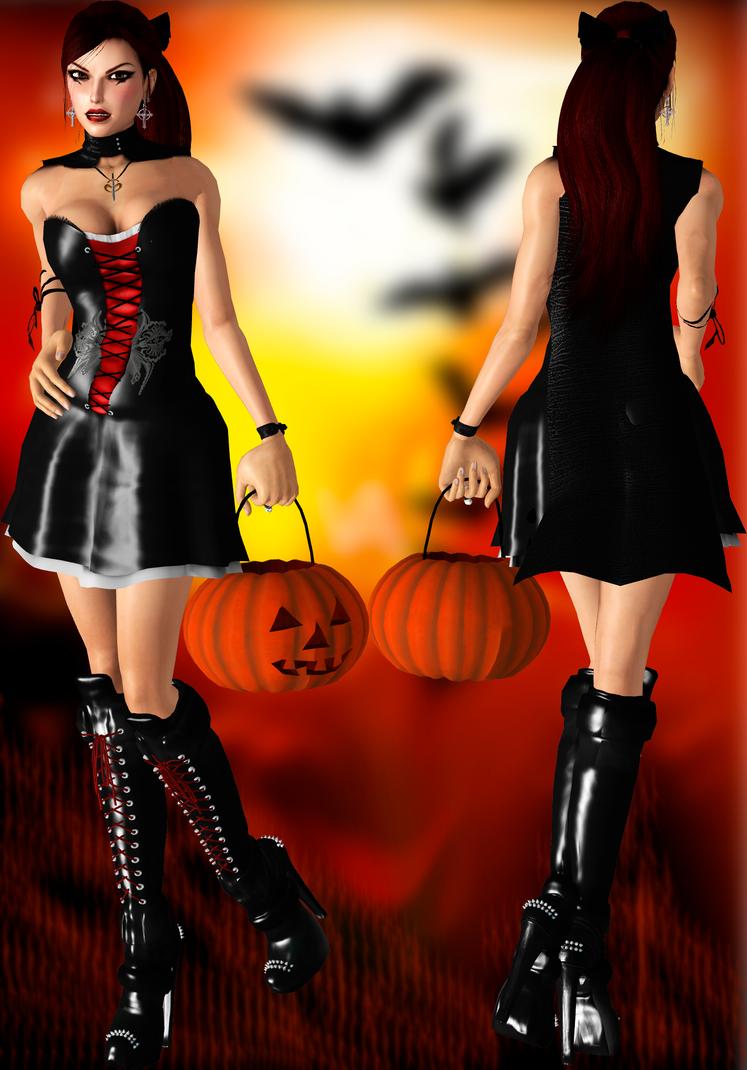 Lara Halloween Dress DL by ZayrCroft