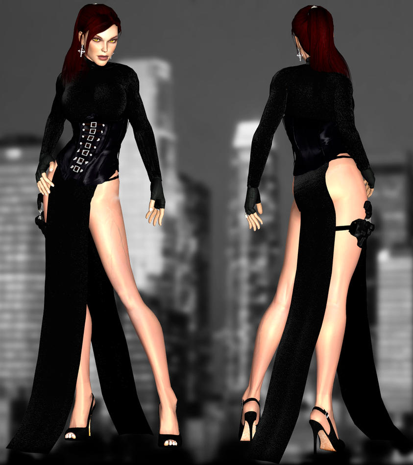 Doppel Long Dress DL by ZayrCroft