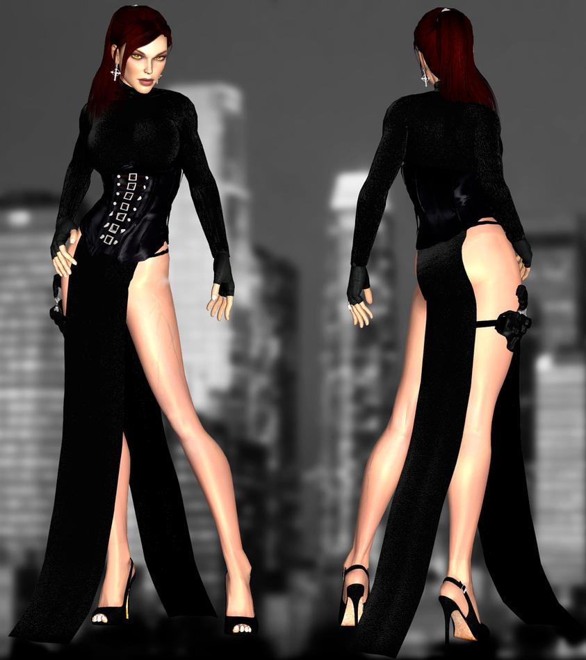 Doppel Long Dress DL by ZayrCroft
