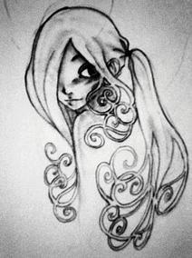 Jugendstil-sketch by LittleMissClover