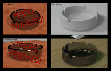 Glass ashtray - 3DS Max [WIP]