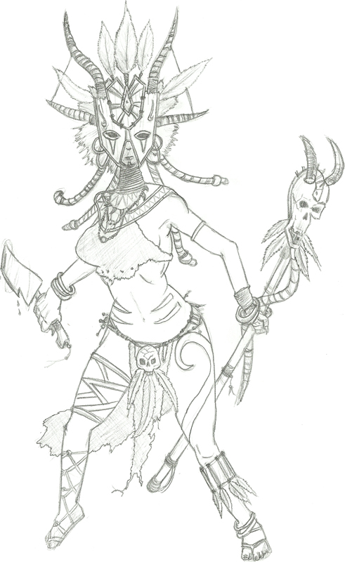 Female Witch Doctor Drawings