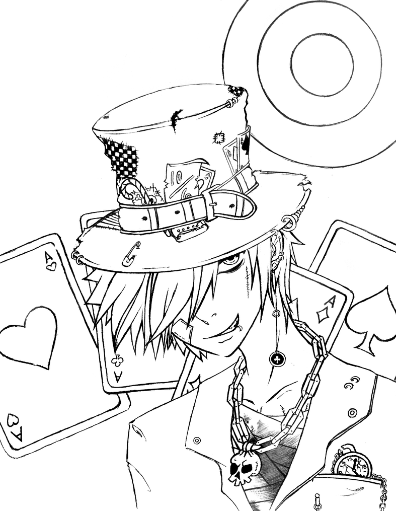 The mad hatter by icybluesky on deviantart The Green Arrow Coloring Pages Bruce Wayne Coloring Pages The Mad Hatter Games