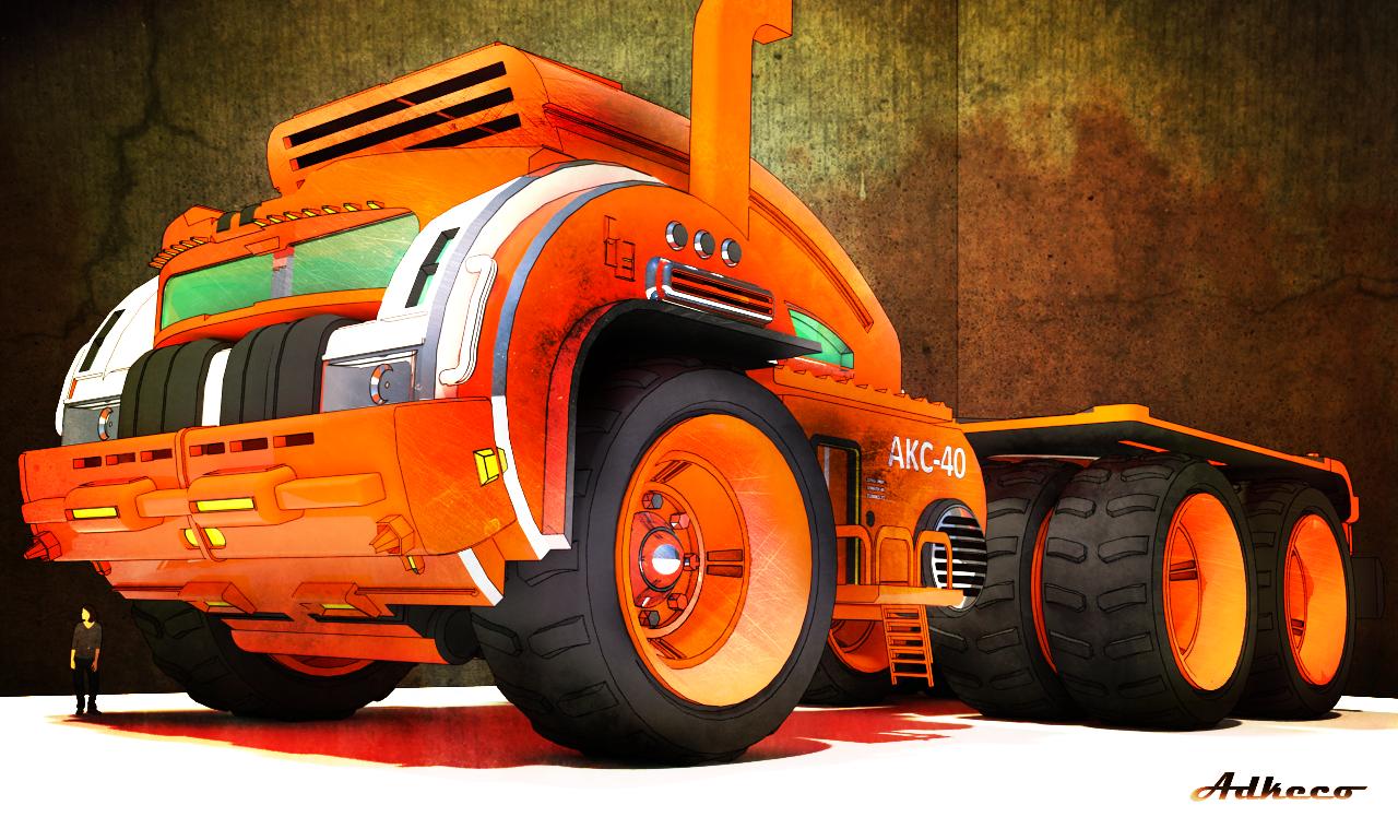 Orange Hauler by aconnoll