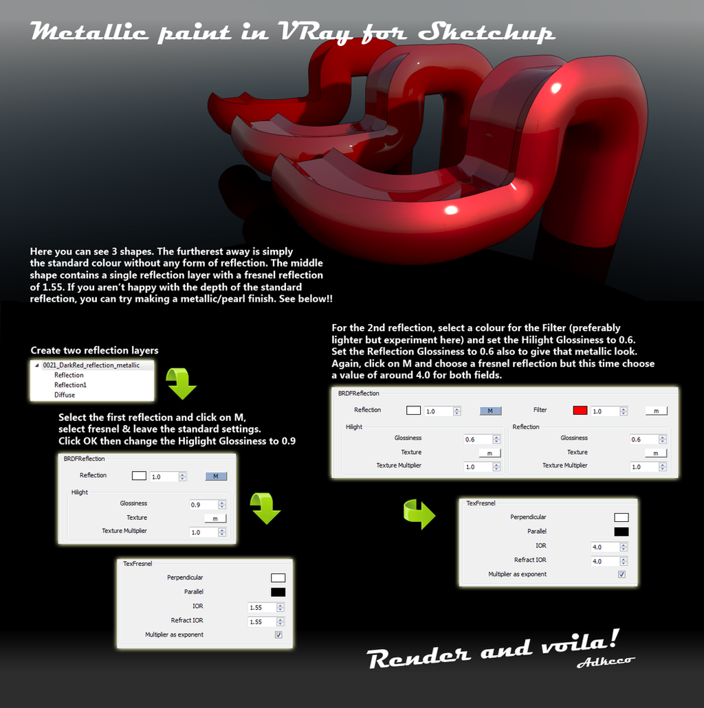 Metallic Paint in VRay for Sketchup Tutorial by aconnoll on DeviantArt