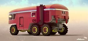 6 Wheeled Fridge