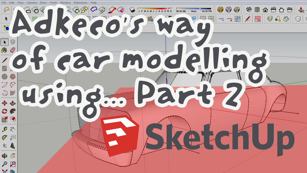 Adkeco's way of car modelling using SKETCHUP - Pt2 by aconnoll