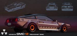 DMC12 reimagined rear shot
