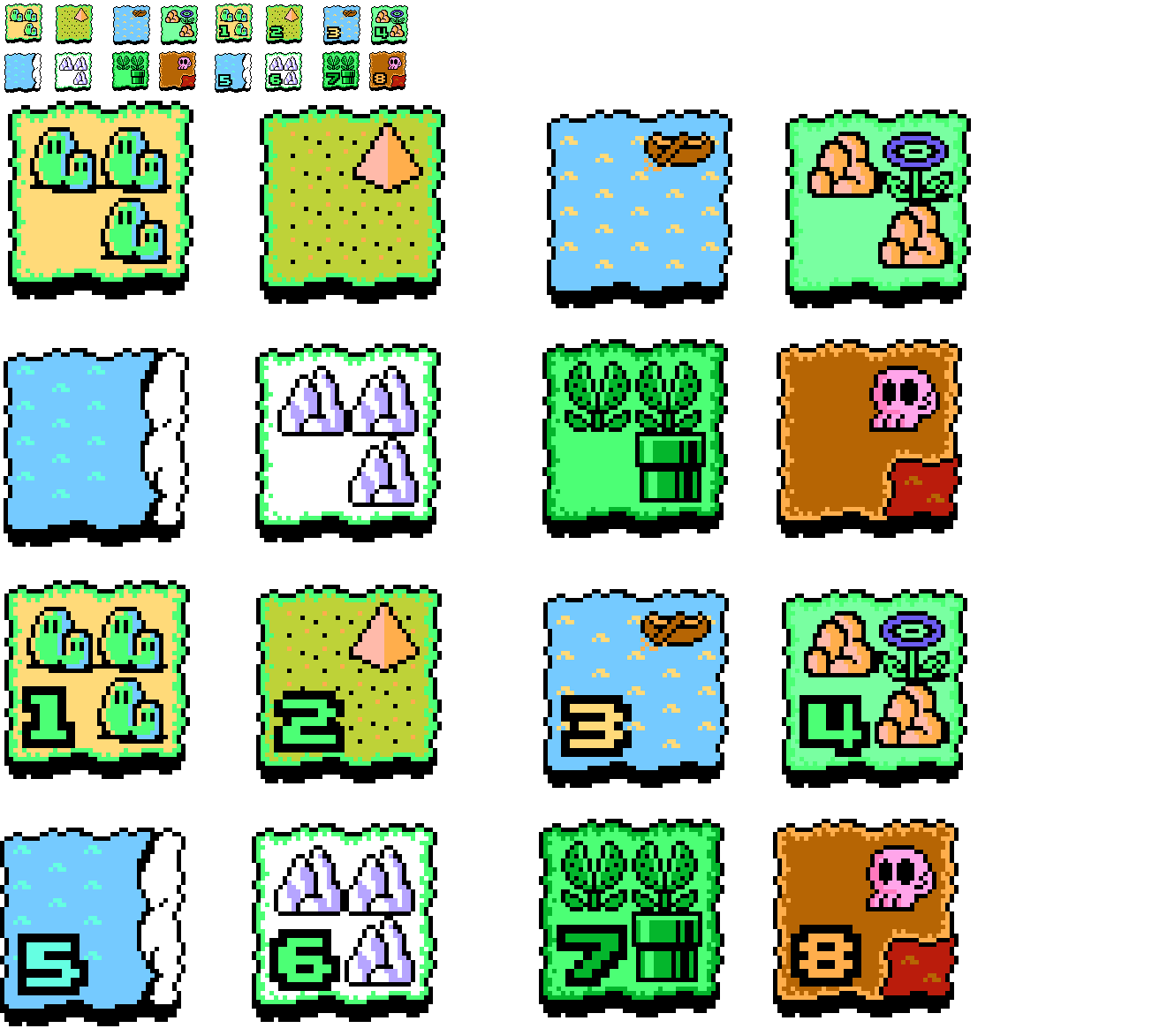 Super Mario Bros 3 Map Icons By Dinodilopho On Deviantart