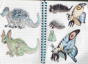 Some Monster Doodles by DinoDilopho