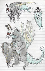 Gigan Doodle by DinoDilopho