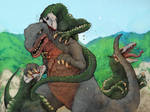 Gorosaurus vs Skull Crawlers