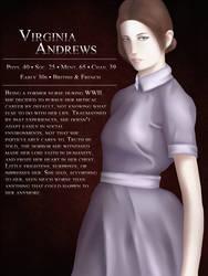 Virginia Andrews (Horror RPG character) by AkumaCursed