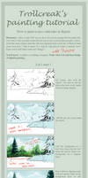 How to paint a lake tutorial