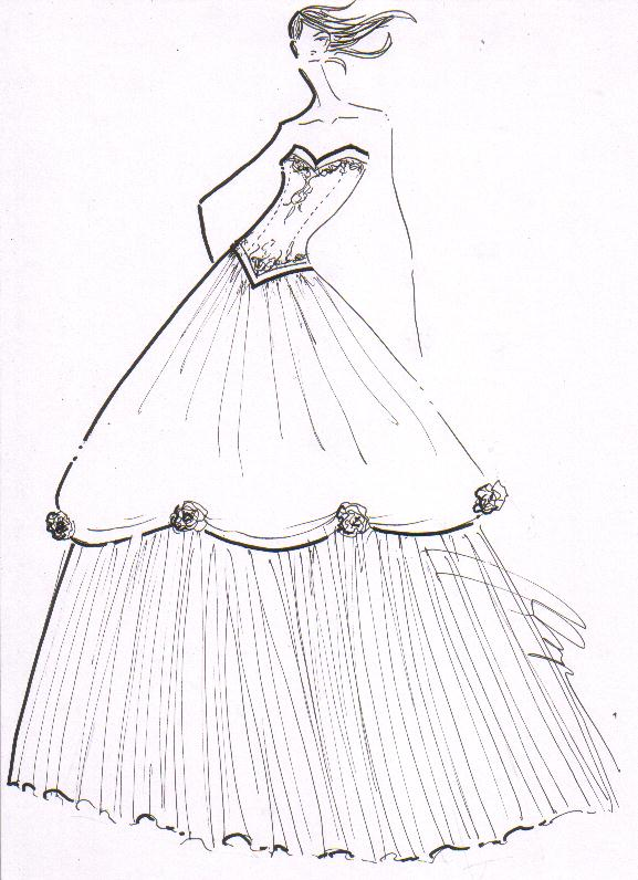 Images of Ball Gown Dress Drawings - #SpaceHero