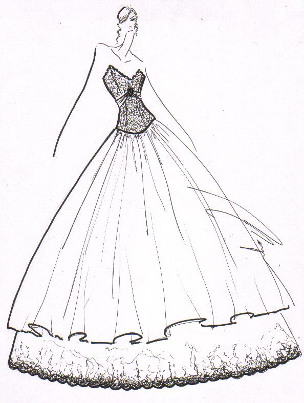 ball gown dress drawings - photo #3
