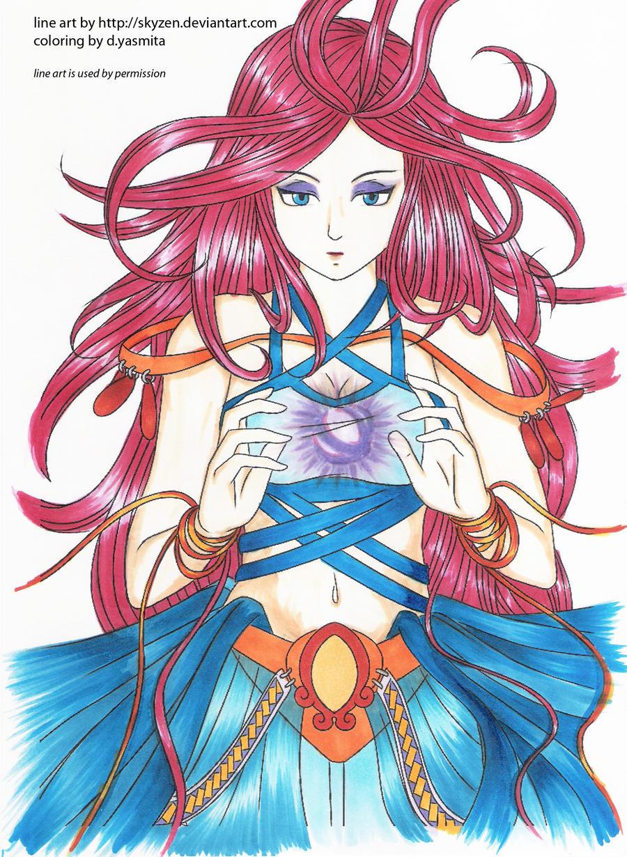 magic -lineart by skyzen- by dyasmita