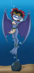 Demona underwater peril -Commission by gaggeddude32