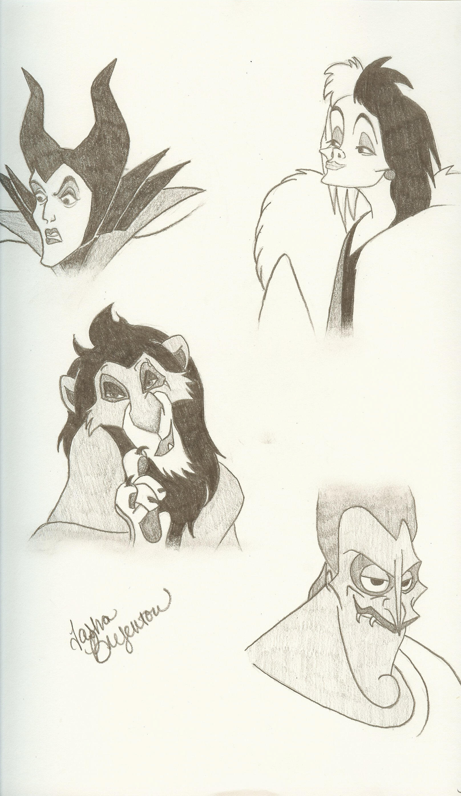 disney villains by willow on deviantart
