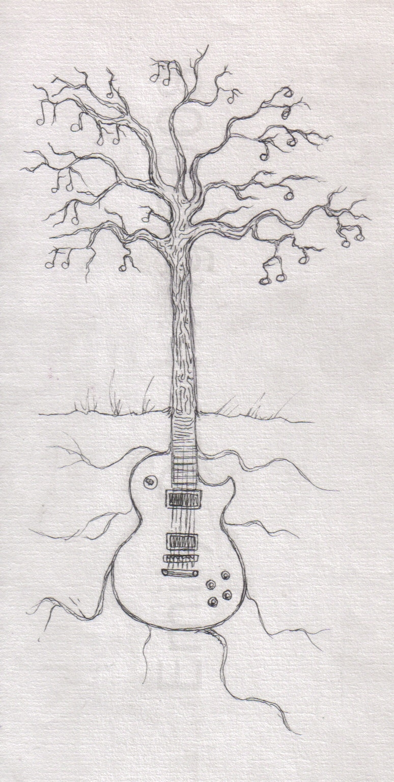 the guitar tree sketch by jinxedbyemily on deviantart