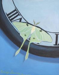 Luna Moth by jinxedbyemily