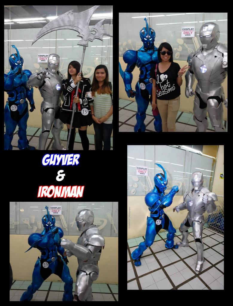 Guyver and Ironman Mark II cosplay by pakwan008