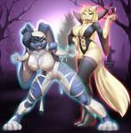 Sapphire and Leona Halloween costumes