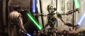 Grievous General's lightsabers collection