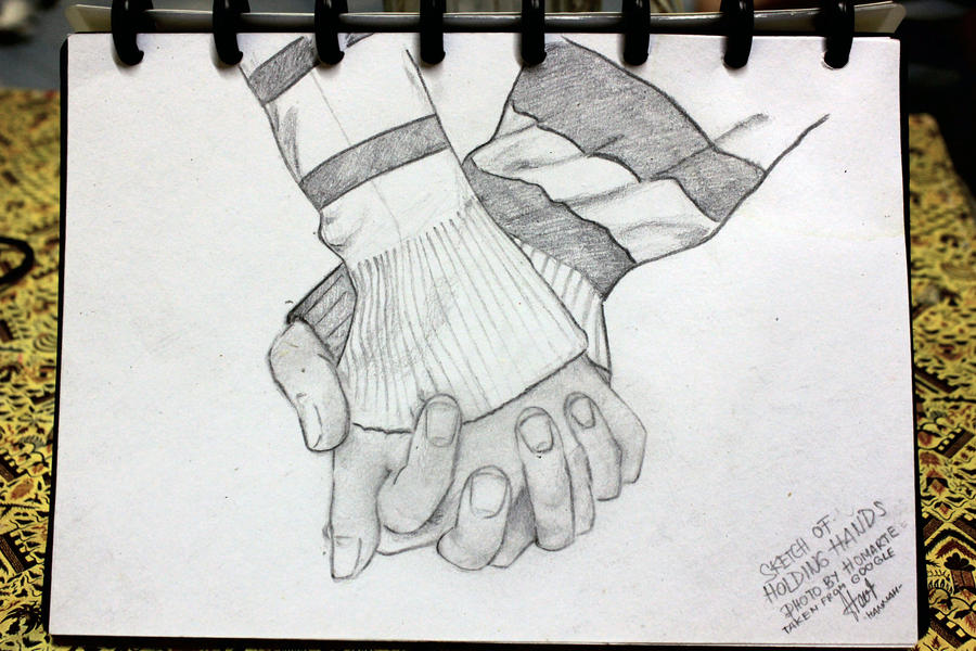 holding hands by per chance two people holding hands on a holding    Holding Hands Love Sketch