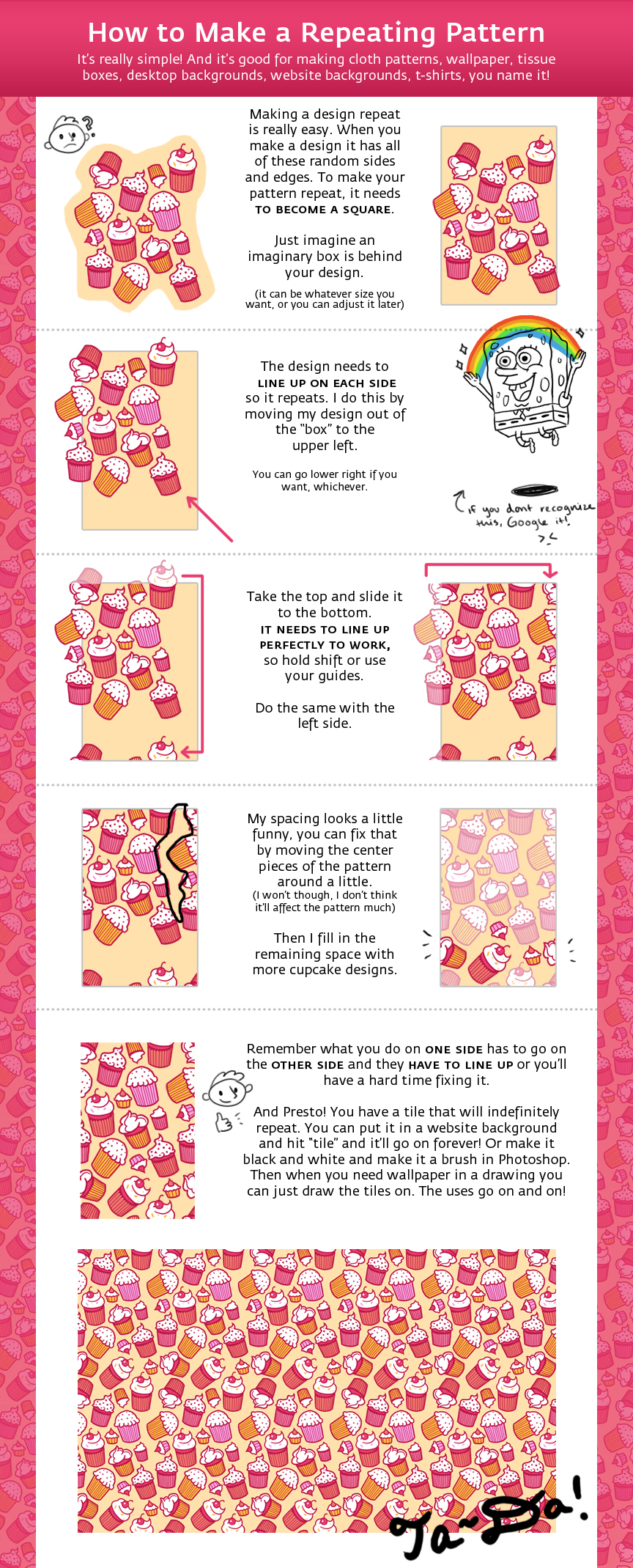 Repeating Pattern Tutorial by Cpresti