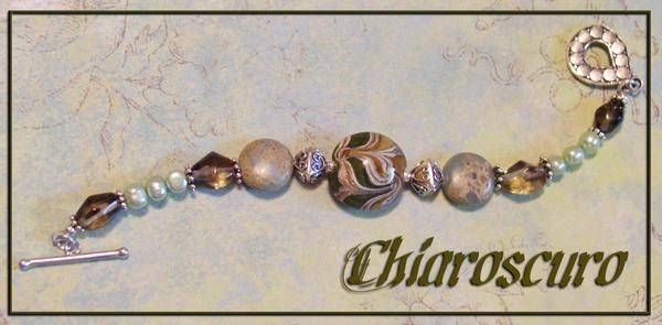 Chiaroscuro: Lampwork Bracelet by rho-cass