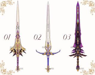 [CLOSED] Weapon Set #01 [AUCTION] by gungungunyyy