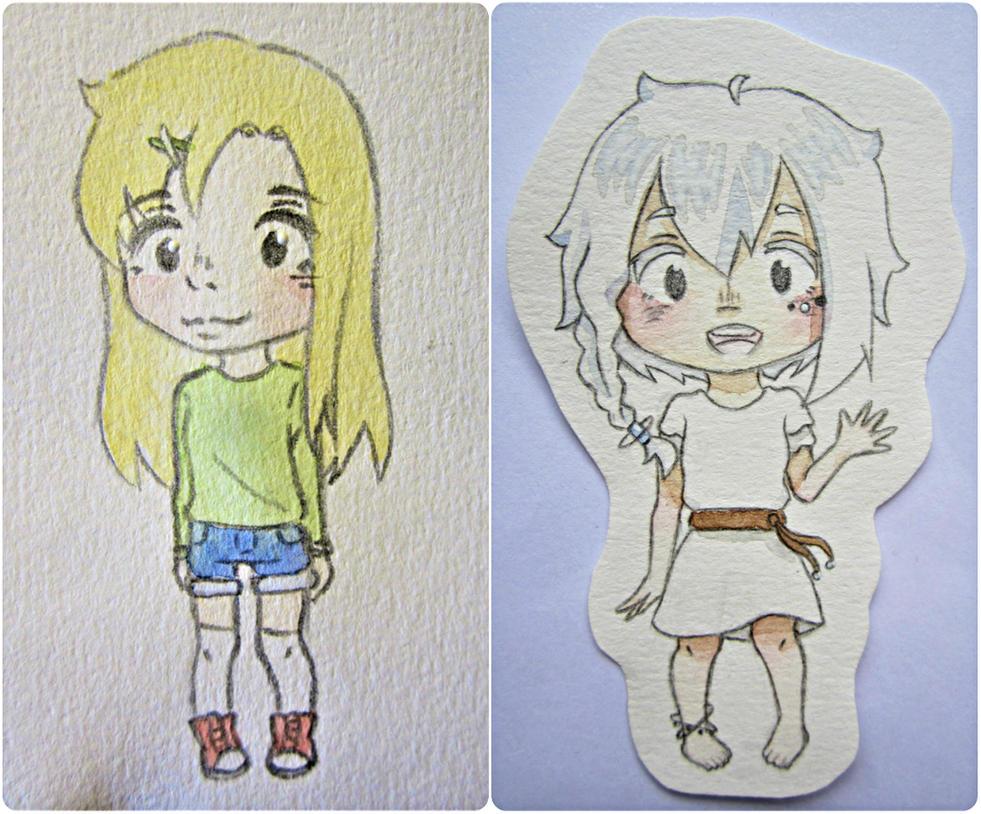 Chibi Yaori and Wint ! by mailinyan