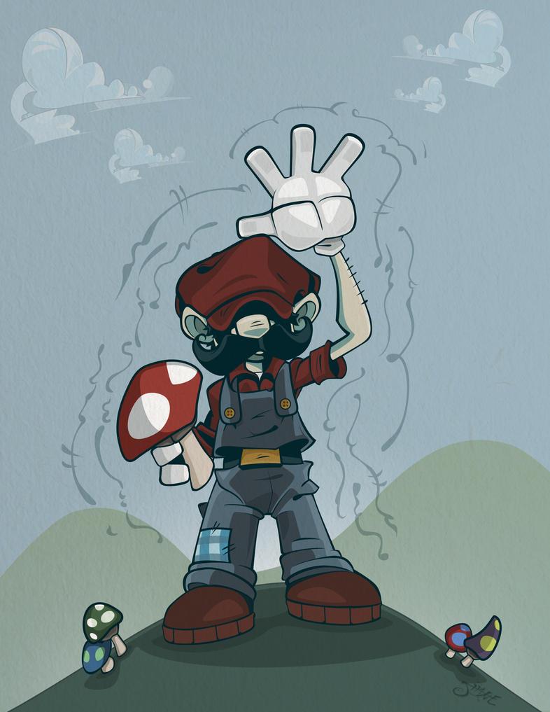 Super Mushroom Mario by Zimmer-man