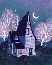 Creepy-cute house