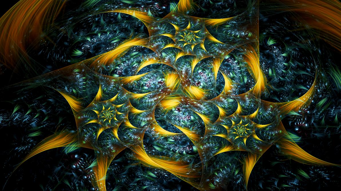 The Gold Roses by Fractamonium