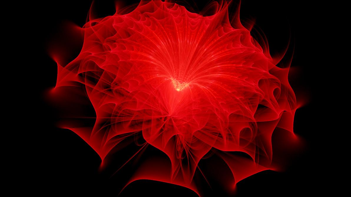 The Red Flower by Fractamonium