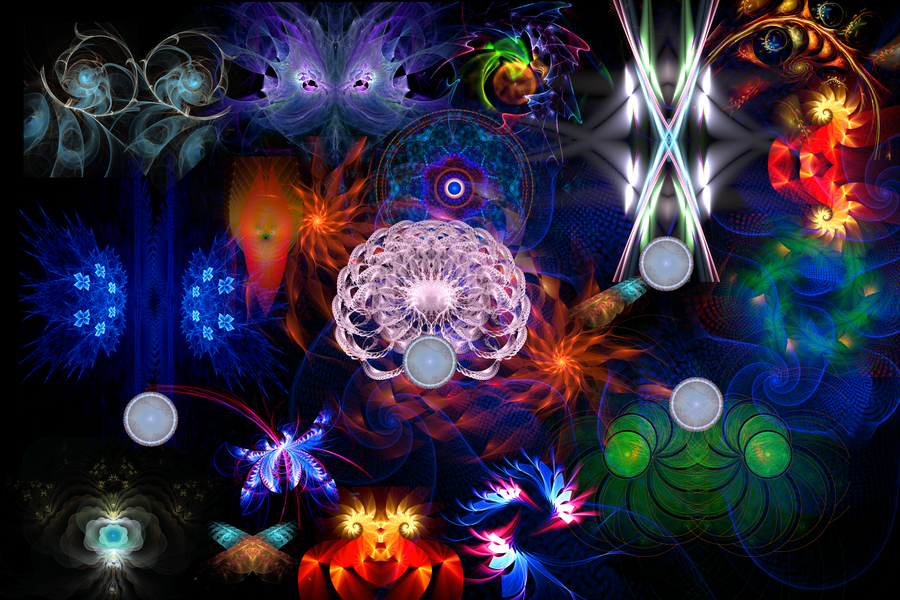 Fractal Collage by Fractamonium