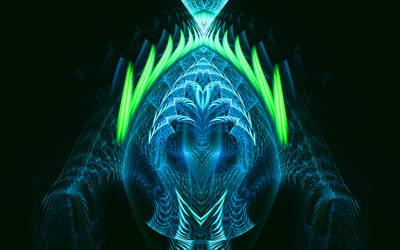 Conscious Fire by Fractamonium