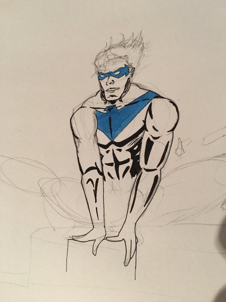 Nightwing in progress by PawelParol85